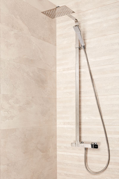 Artic with thermostatic mixer for shower system