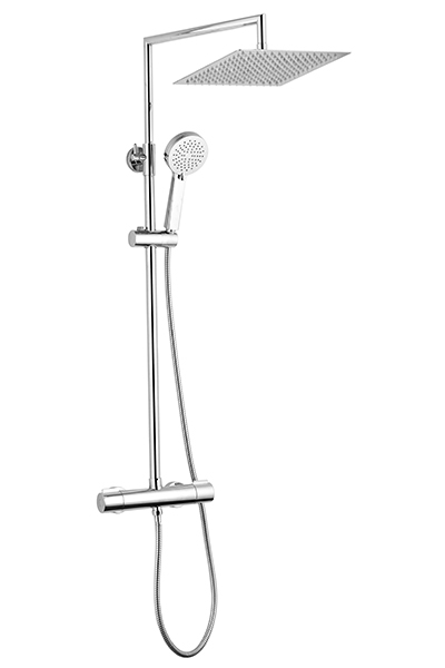 Berenice square with thermostatic mixer